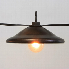 Garden String Light-Decorative G40 Bronze Cafe Light 8ct