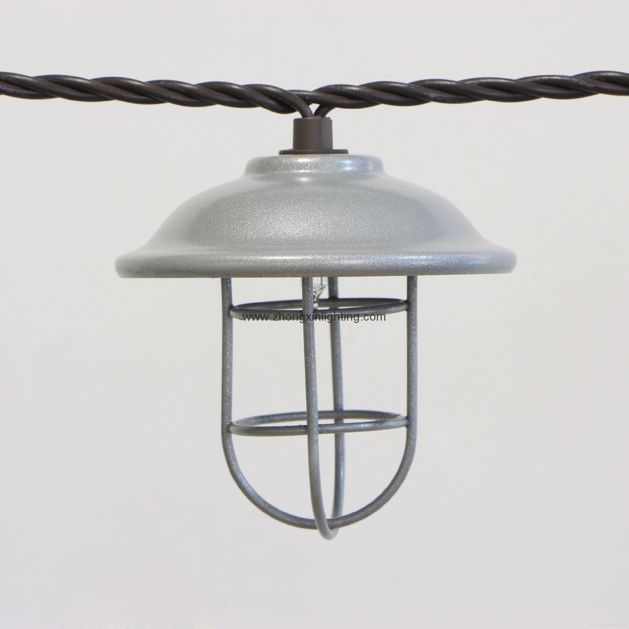 Garden String Light Decorative Galvanized Hood Amp Wire Cage