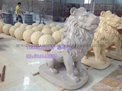 仿砂岩獅子雕塑