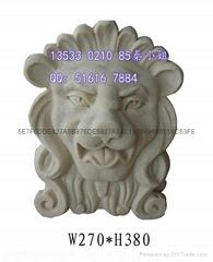 壁挂狮子头喷水雕塑