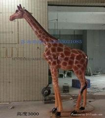 玻璃鋼長頸鹿雕塑擺件