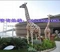 長頸鹿仿真動物雕塑