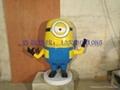 卡通小黄人雕塑 2