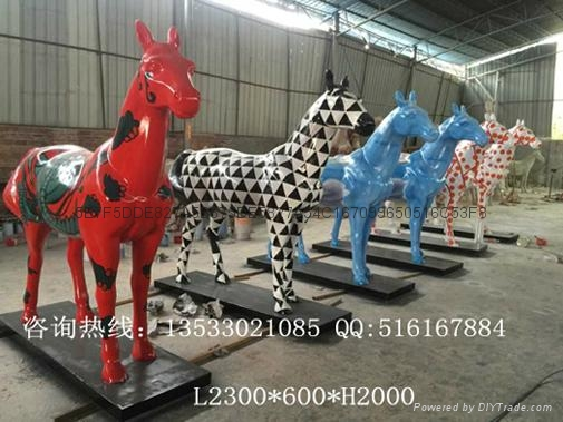 仿真斑馬雕塑擺件 5