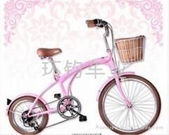 时尚韩国风自行车大小轮 淑女车
