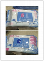 Baby soft hand and mouth wipes