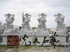 寺庙石雕四大金刚