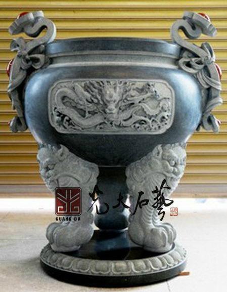 石雕寺廟香爐 1