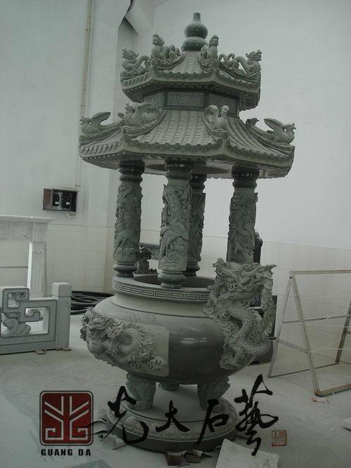 石雕寺廟香爐 4
