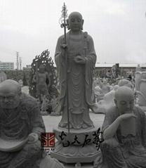寺庙石雕地藏王菩萨