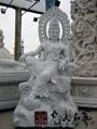 寺廟石雕自在觀音菩薩
