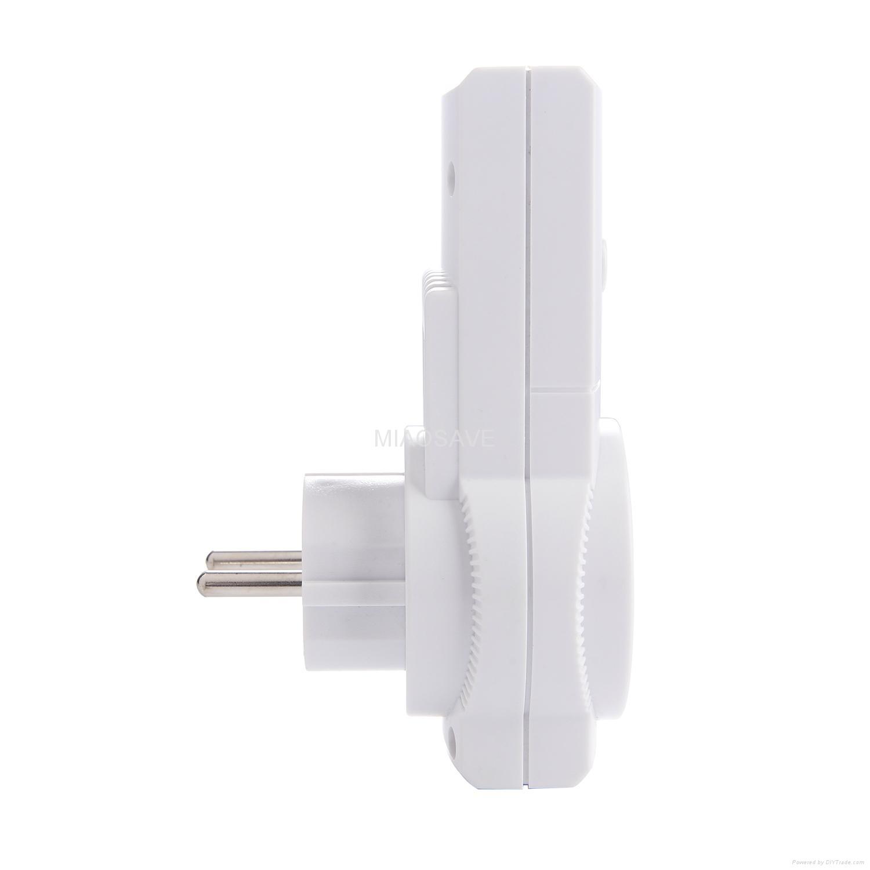 家用電器的牆壁開關和插座遙控插座組 3