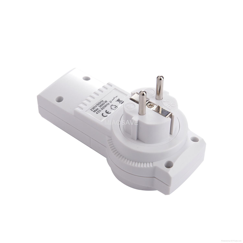 家用電器的牆壁開關和插座遙控插座組 4