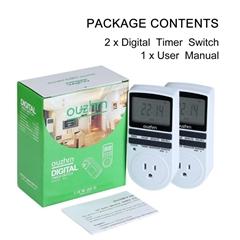 美規大屏幕7天循環設置電子電子定時器(2pack)