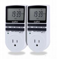 Digital Timer Switch,Timer outlet,7 day timer,plug in timer(2pack)