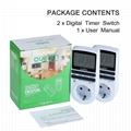 Light timer,Smart digital timer,Plug in timer for EU plug (Hot Product - 1*)