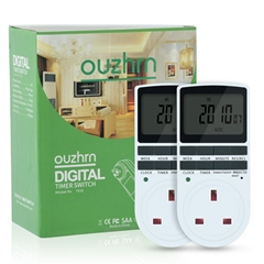 Timer outlet  with 10 on/off Programs for UK Plug