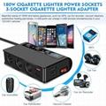 7-in-1,3 Sockets Cigarette Lighter Splitter & 4USB,180W 12V/24V Car Adapter 4
