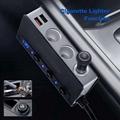 7-in-1,3 Sockets Cigarette Lighter Splitter & 4USB,180W 12V/24V Car Adapter 3