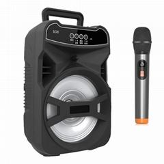 Outdoor special portable karaoke speaker Wireless microphone