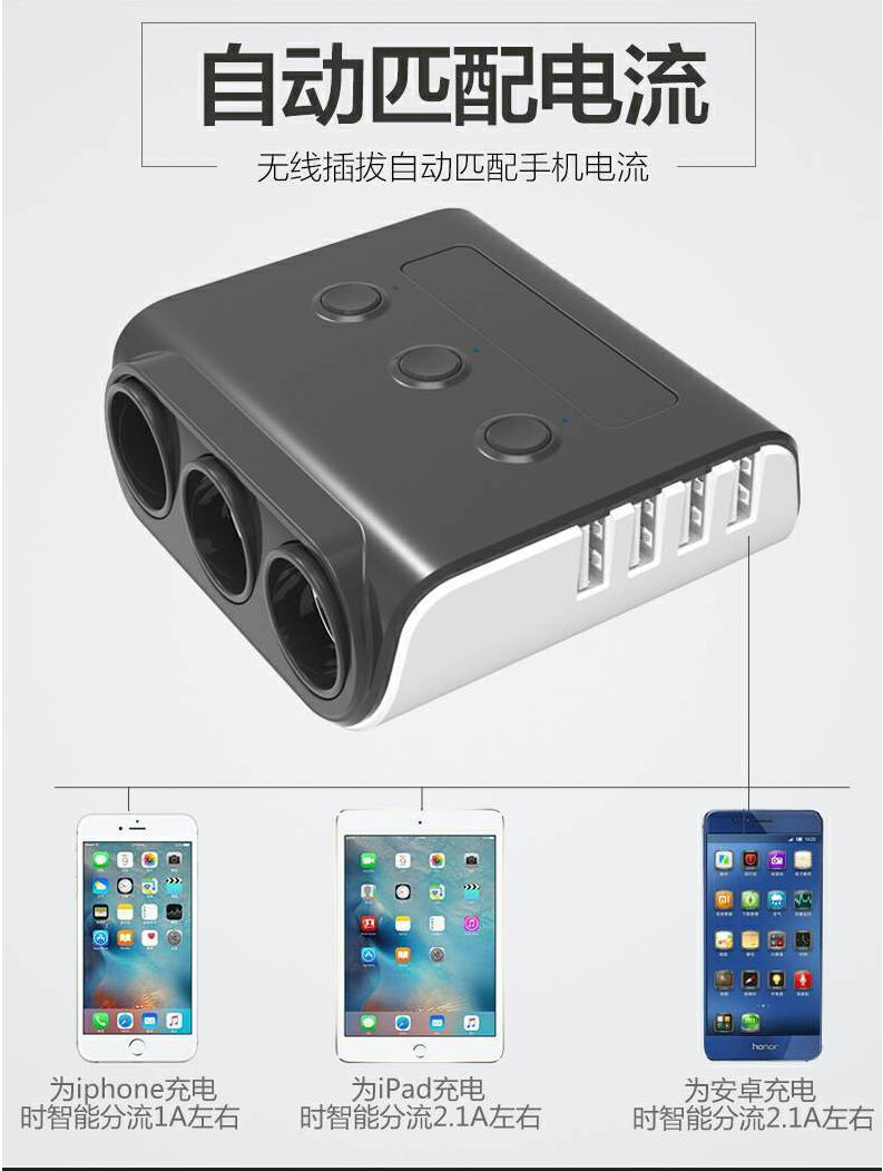Vehicle charger three 100W DC charger 10