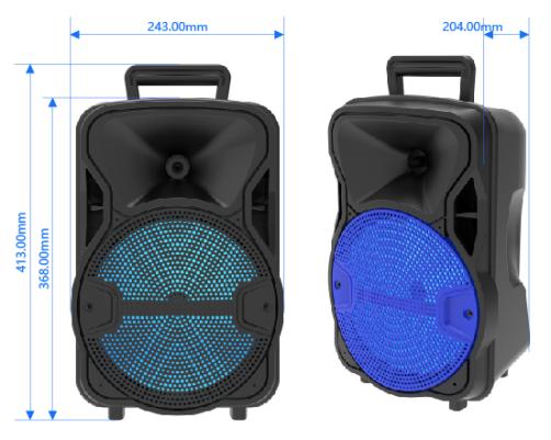 8寸帶無線麥克風手提式藍牙音箱 4
