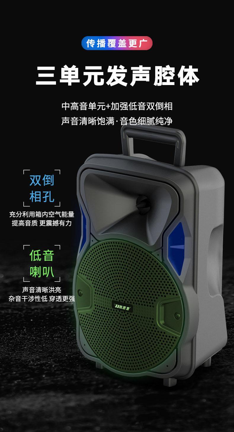 8寸帶無線麥克風手提式藍牙音箱 14