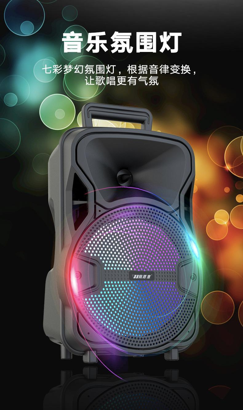 8寸帶無線麥克風手提式藍牙音箱 15