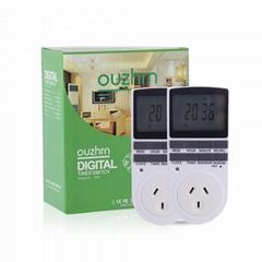 Digital Timer Switch,Timer outlet,7 day timer,plug in timer for AU  plug(2PACK)