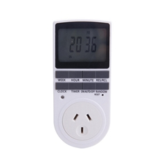 Programmable Outlet Timer Switch Socket for Lights Fans 7x24hour Cycle(1pack)
