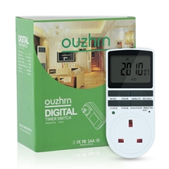Timer outlet  with 10 on/off Programs for UK Plug(1pack)