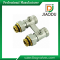 nickel female two way brass h valve for