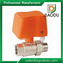 220V DN15 threaded actuator brass mini motorized ball valve