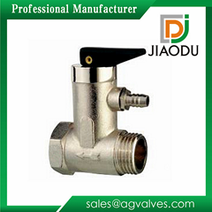 DN15 0.7MP G1/2 inch drawing nickel plating brass safety valve for water heater