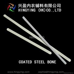 white coated steel bone