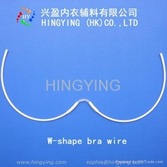 W-shape bra wire