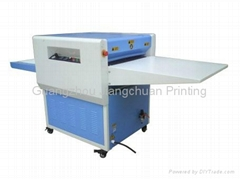 LK-22C Correct Side Drum Belt Type Bronzing Machine hot sublimation t shirt