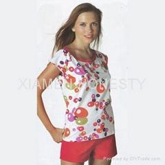 Ladies pyjamas made of 100% cotton