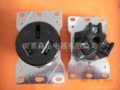 American high-power dryer outlet. Generator outlet. High current plug
