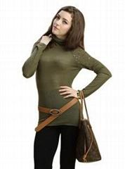2011新品堆堆領亮片打底衫