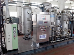 Pharmaceutical chemical blowing, displacement and reaction kettle production