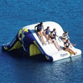 inflatable water toys  air water totter slide with climbing 2
