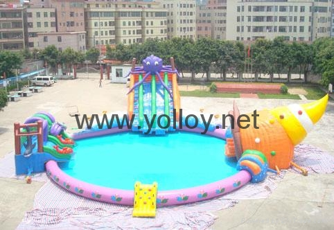 inflatable water park toys inflatable slide with pool water sport for summer 2
