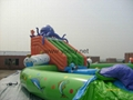 inflatable water park toys inflatable slide with pool water sport for summer 4
