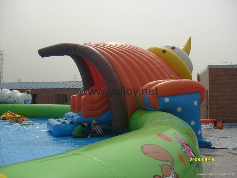 inflatable water park toys inflatable slide with pool water sport for summer 5