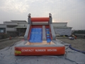 inflatable slide with pool 2