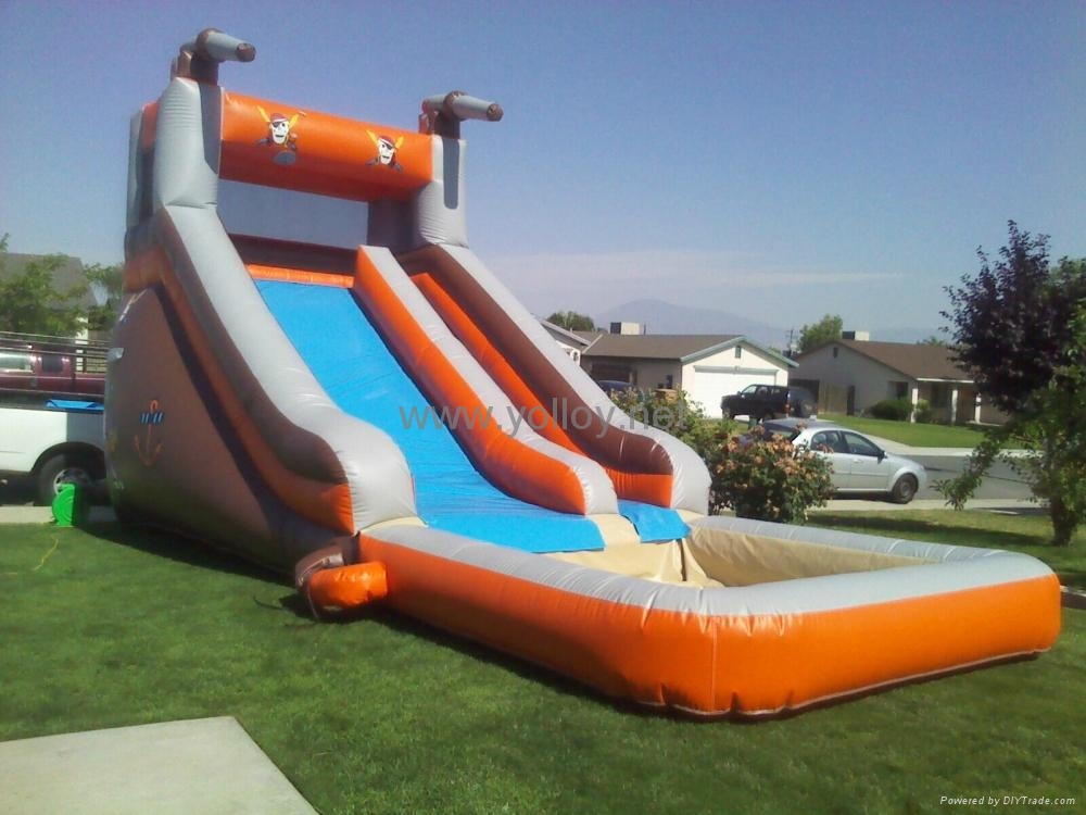 inflatable slide with pool 1