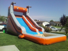 inflatable slide with po