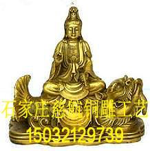 供應文殊普賢銅佛像制品  訂做銅制文殊普賢佛像 2