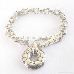sterling sivler jewelry link charms bracelet